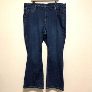Lane Bryant mid rise bootcut dark wash jeans